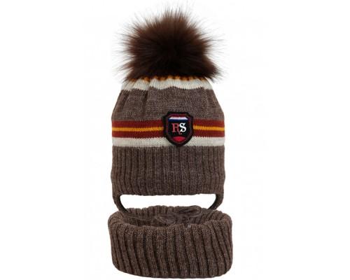 Комплект детский шапка+снуд YAM-20014 (изософт)