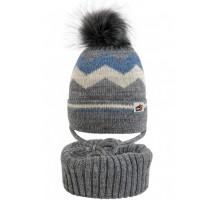 Комплект детский шапка+снуд YAM-20015 (изософт)