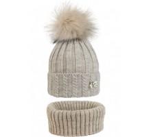 Комплект подростковый шапка+снуд YAM-20019 (флис)