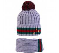 Комплект детский шапка+снуд ASA-20029/1 (изософт)