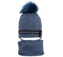 Комплект детский шапка+снуд ZAR-20055 (изософт)