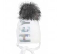 Шапка детская SVZ-20062 (изософт) Натуральный помпон